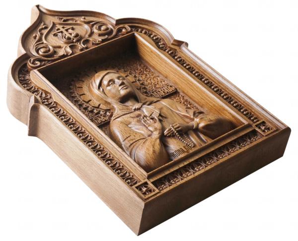 иконы святой матроны резные