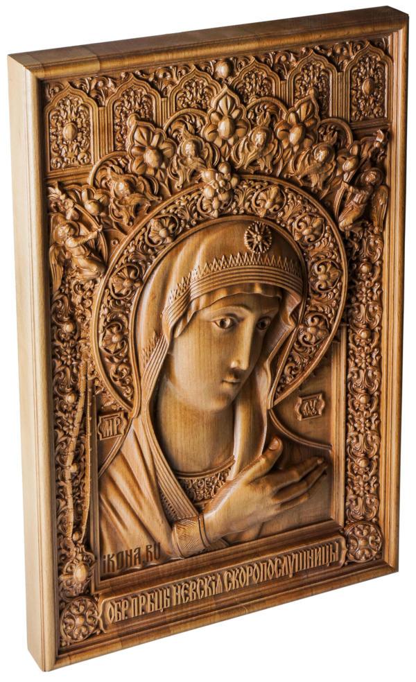 икона богородицы из дерева