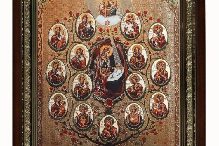 икона дерево пресвятой богородицы